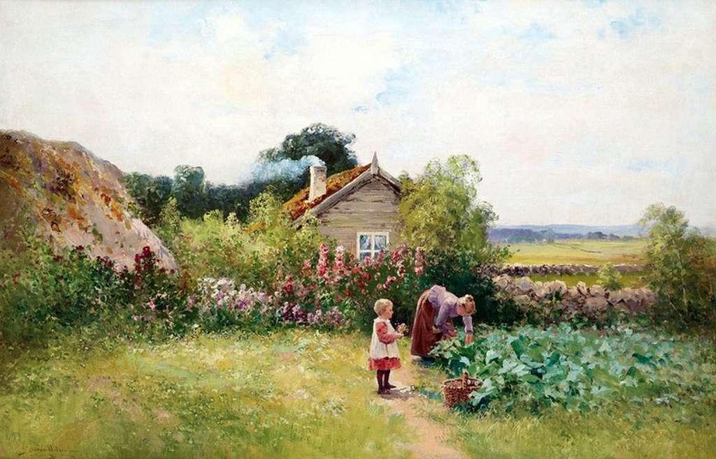 Запах детства на травах настоян... Шведский художник Йохан Кроутен